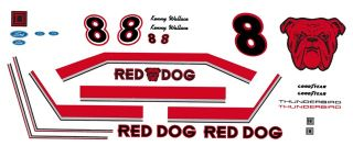 8 Kenny Wallace Red Dog Beer 1 32nd Scale Slot Car Decals