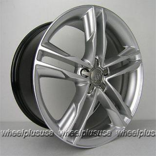 19 Audi Wheels Rims A4 A5 S4 A6 A8 S4 S5 VW Jetta Phaeton 19x8 0 Hyper Silver