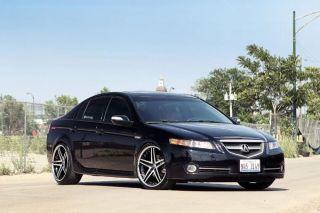 "20"" Acura TL Rohana RC5 Matte Black Concave Wheels Rims"