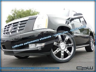 "4 New 24"" inch Chrome Plated Wheels Rims Fits Cadillac Escalade Tahoe Silverado"