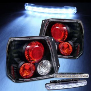 LED Bumper Fog 95 99 Tercel Black altezza Tail Lights Brake Lamp Set Left Right