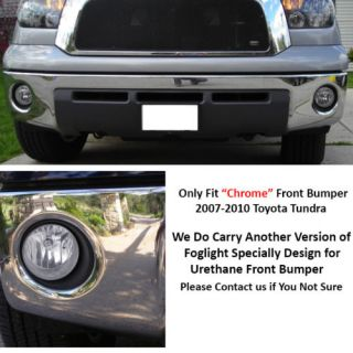 07 13 Tundra Double Cab Crewmax Pre Wired Clear Fog Lights Complete Kit Set