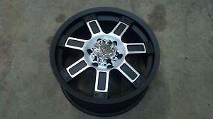 "18"" Granite Alloy GA12 Vrock Diesel Black Machined Wheel 18x9 6x5 5 30mm"