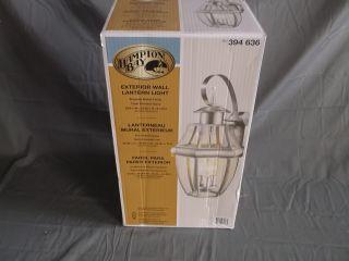Hampton Bay Brushed Nickel Outdoor Exterior Wall Lantern Light 394636 BOR1693