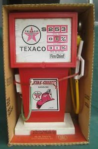 Vintage H G Toys Texaco Fire Chief Gas Pump Pedal Car Pretend Box RARE