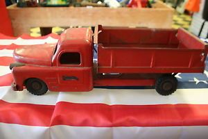 """Vintage Antique Structo Toys Working Dump Truck 20"""" Hood Opens Free Shipping"""