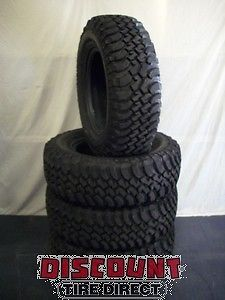 4 Used 255 75 17 BFG Mud Terrain KM Tires 75R R17