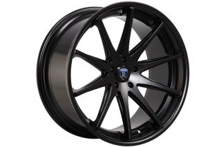 """22"""" Cadillac cts V Coupe Rohana RC10 Concave Matte Black Staggered Wheels Rims"""