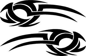 """Tribal Car Graphics Decals Stickers 22"""" x 7"""" Tribal 24"""