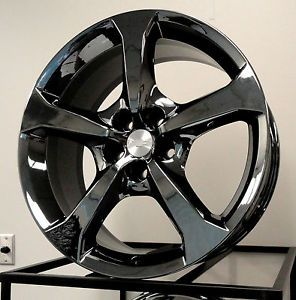 "4 Factory New Style 2013 Camaro SS 20"" Black Chrome PVD Wheels Exchange"