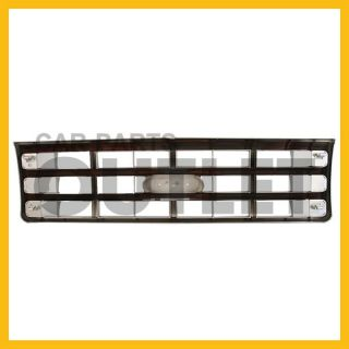1987 1988 Ford F150 Chrome Painted Silver Insert Grille