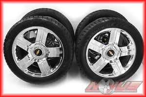 "New 22"" Chevy Silverado LTZ Tahoe GMC Yukon Sierra Chrome Wheels Tires 22"