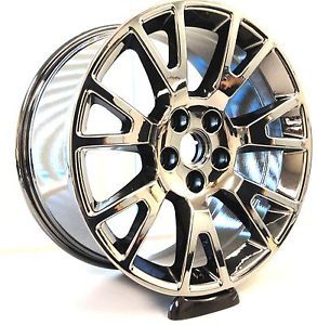 "4 Factory 2012 cts Coupe Wheels 19"" Cadillac Spoke Rims Black Chrome"