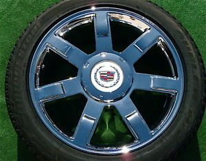 4 Brand New Genuine GM Factory Cadillac Escalade Chrome 22 inch Wheels Tires