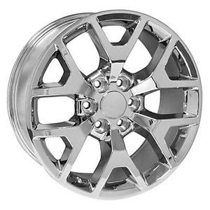 "GMC Yukon XL Denali Sierra Cadillac Escalade Chrome 20"" Wheels Rims ..."