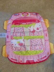 Bright Starts Floor Mat Play Mat Baby Girl Pink Puppy Car Themed