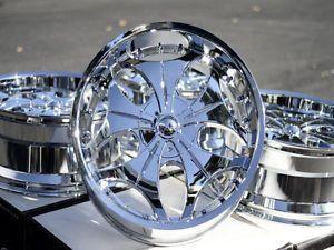 "22"" Chrome VCT Wheels Rims Avalanche GMC Sierra 1500 Yukon Denali Nissan Titan"
