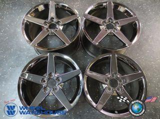Four 05 07 Chevy Corvette Factory 18 19 Black Chrome Wheels Rims 5207 5209