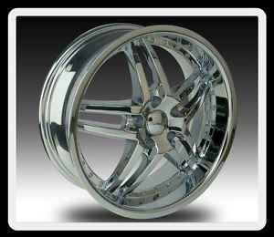 """20"""" U2 95s A 5x100 5 5 Grand Vitara XL 7 Luxury PT Cruiser Chrome Wheels Rims"""