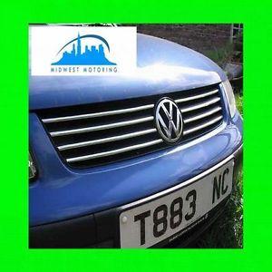 1998 2001 VW Volkswagen Passat Chrome Trim for Upper Grill Grille w 5yr Wrnty B5