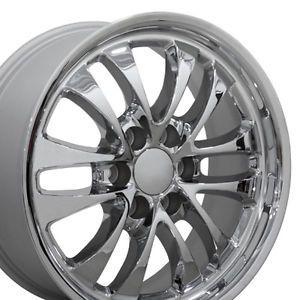 """Set 4 18x8 GMC Envoy Chrome Alloy Wheels Rims 18"""" Chevy"""