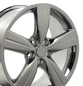 """Set 4 18x8 Lexus GS 350 Style Chrome Replica Wheels Rims 18"""" Gs350"""