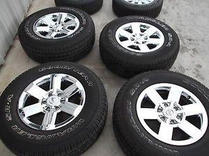 "18"" Nissan Titan Chrome Wheels Tires Rims Goodyear Armada Infiniti QX56 62515"