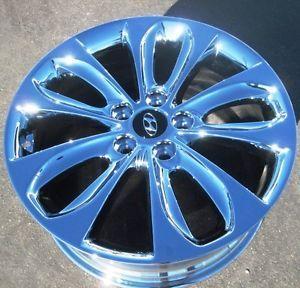 "Set of 4 New 18"" Factory Hyundai Sonata Chrome Wheels Rims 2006 2012"