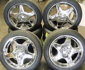 17'' Mercedes SLK230 Kompressor R170 17 inch AMG Wheels Rim New Chrome Tires
