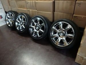Bentley Flying Spur Continental GT Factory Chrome Wheels Rims with Tires