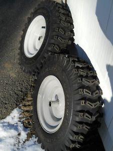 Carlisle x Trac Snow Blower Tires on Rims 4 80 8NHS MTD Craftsman Etc