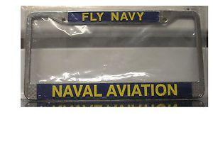 United States Navy License Plate Frame Fly Navy Naval Aviation