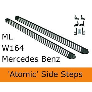 Mercedes Benz ml 2006 W164 Side Steps Running Boards Side Bars Accessories