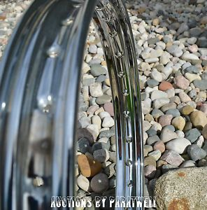 "Piaggio Vespa Bravo Moped Chrome Wheel 16"" Rim New Mint Garelli Puch Tomos"