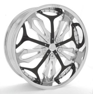 "20""inch Rims and Tires Wheels 22 24 26 Chrome Effen 412"