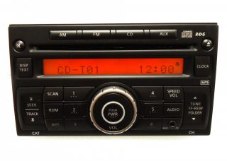 Nissan Rogue Versa Radio MP3 CD Player iPod Aux 281851PA1A 07 08 09 10 11