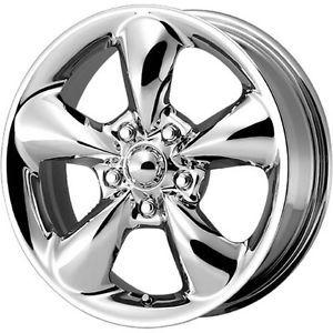 15x7 Chrome American Racing Aero Wheels 5x100 40 Volkswagen Jetta Golf