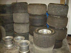 Used Dirt Late Model Tires and Wheels Hoosier Tires Weld Wheels MRT Wheels