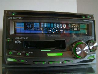 RARE Pioneer Double 2 DIN Car CD  Aux iPod XM Cassette Stereo Player Receiver