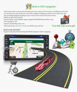 2Din Android 4 0 OS Car DVD Player GPS Bluetooth iPod Radio 3G WiFi Head Unit HD
