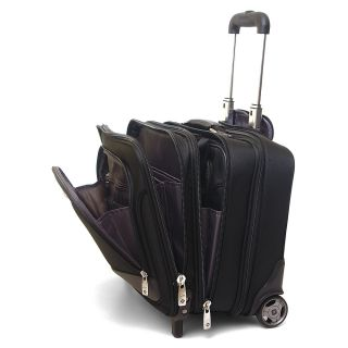 Samsonite Rolling Briefcase on Wheels Bonus Laptop Case 2 in 1 Overnight Bag New