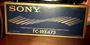 Sony Brand New TC WE475 Audio Auto Reverse Dual Cassette Deck Player Recorder