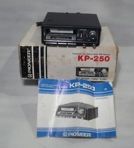 Vintage Pioneer in Dash Car Stereo Cassette Player KP 250 w Box NOS 1975