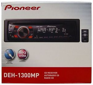 New Pioneer DEH 1300MP CD  Car Receiver Player Stereo Radio Aux DEH1300MP