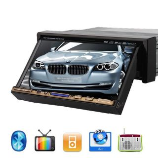 "New Model 1 DIN Indash 7"" Car Stereo DVD CD iPod MP3 Radio TV Player Free Camera"