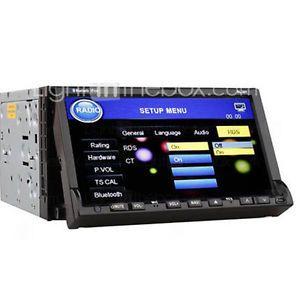 "HD 7"" LCD 2Din in Dash Car Radio CD DVD Player iPod Bluetooth USB FM SD MP3 IR"