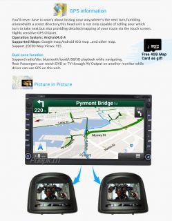 "6 95"" Double 2 DIN Car DVD Player GPS Android 4 0 WiFi 3G SAT Nav Radio BT iPod"
