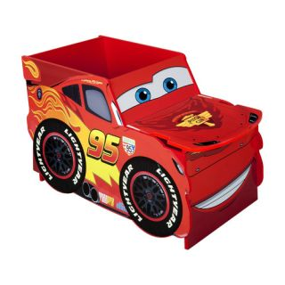 Delta Children Red Disney Cars Lightning McQueen Toy Box