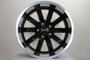 "19"" adr Black Deep Dish Rims Wheels Volvo Jaguar Cougar Ford Focus Land Rover"