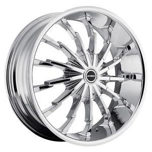 22 inch Strada Stiletto Chrome Wheels Rims 5x4 25 Jaguar XK XF XJ Base Models